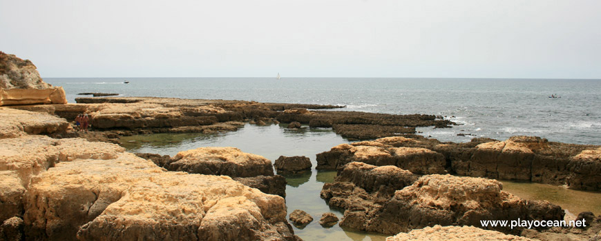 Natural pool at Praia de Manuel Lourenço Beach