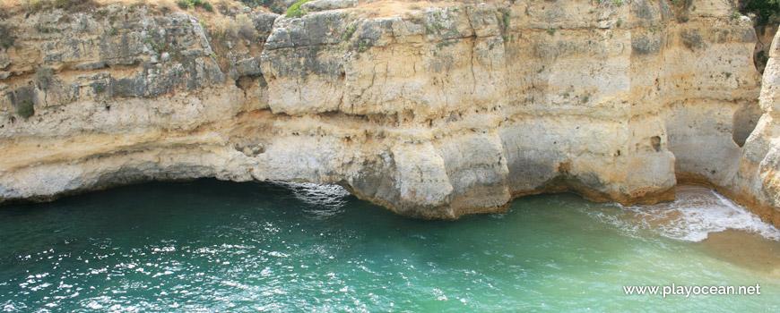 Cliff at Praia do Ninho de Andorinha Beach