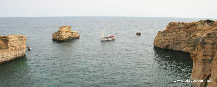 Boat at Praia da Ponta Pequena Beach