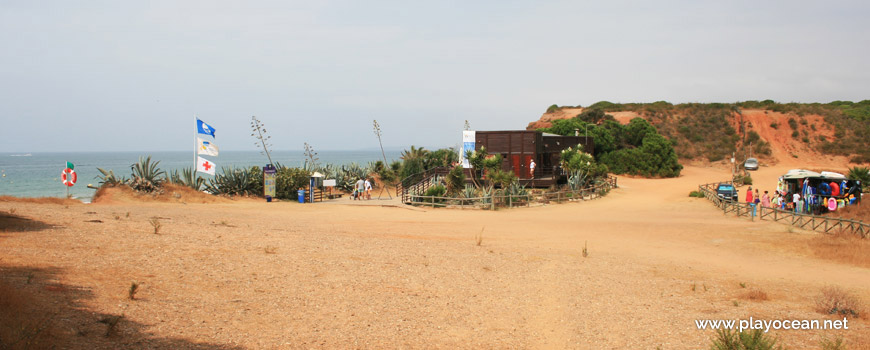Entrada, Praia da Rocha Baixinha (Poente)