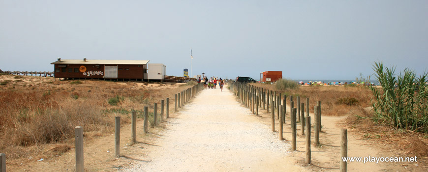 Path to Praia dos Salgados Beach