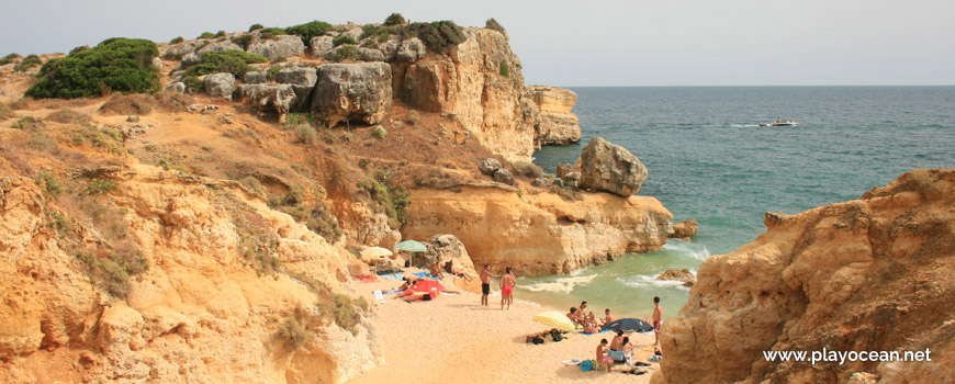 Small sand at Praia de São Rafael Beach