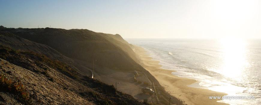 Praia da Pedra do Ouro, vista da falésia