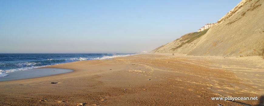 North at Praia da Pedra do Ouro Beach