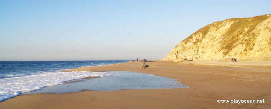 Norte da Praia da Polvoeira