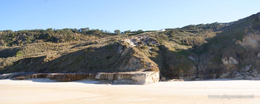 Falésia, Praia de Vale Pardo