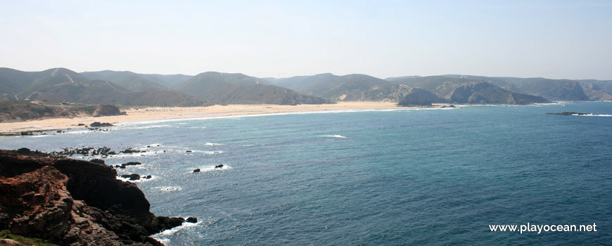 Panoramic of Praia do Amado Beach
