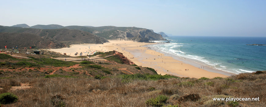 South at Praia do Amado Beach