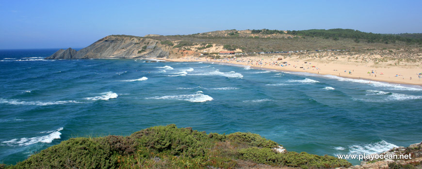Panoramic of Praia da Amoreira (Sea) Beach