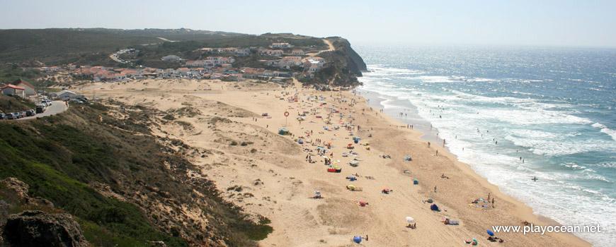 Sul na Praia do Monte Clérigo