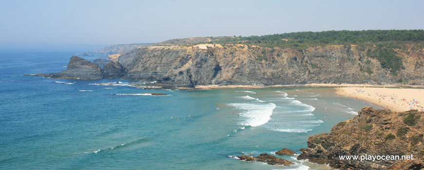 North cliff at Praia de Odeceixe (Sea) Beach