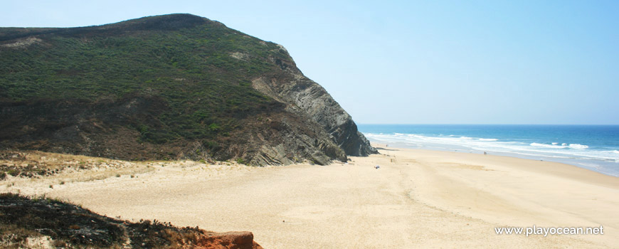 South at Praia do Penedo Beach