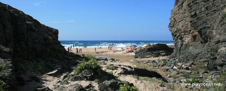 Stream at Praia do Vale dos Homens Beach