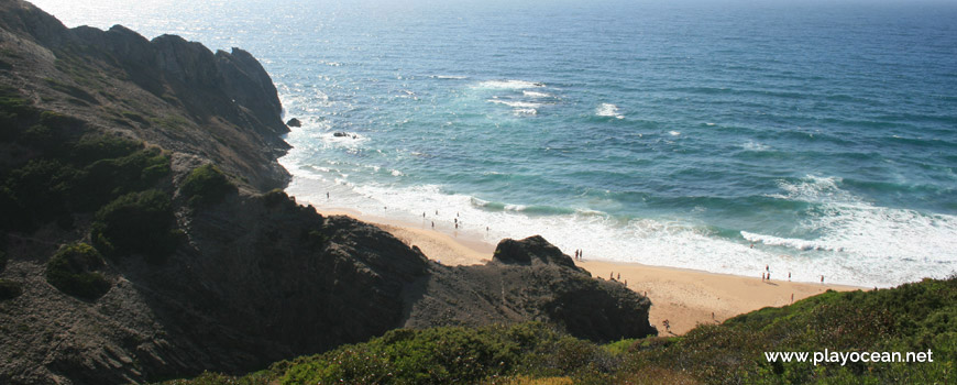 Panoramic of Praia do Vale dos Homens Beach