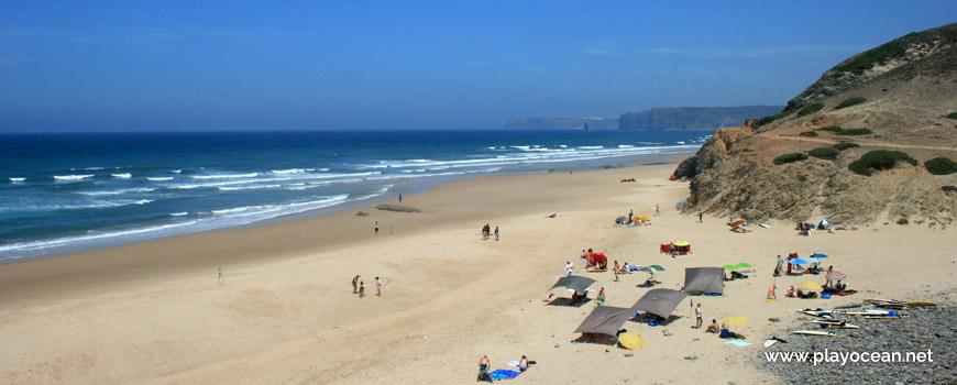 North at Praia de Vale Figueiras Beach