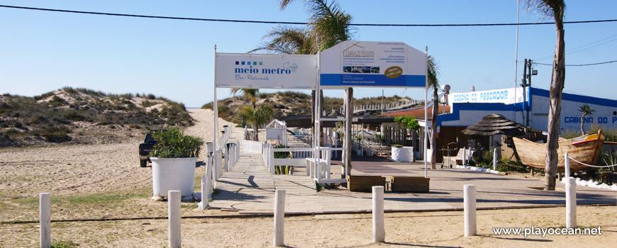 Entrada, Praia da Cabana do Pescador