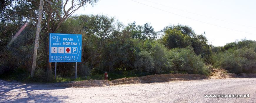 Estrada, Praia da Morena
