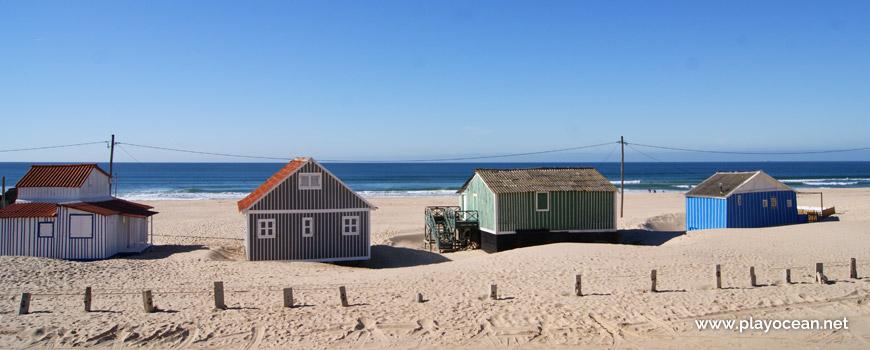 Cabanas na Praia da Saúde