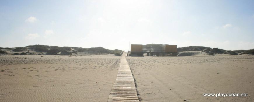 Access to the parking at Praia de São Jacinto Beach