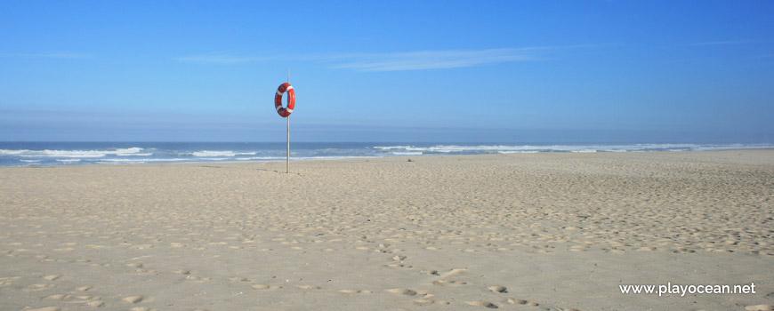 Surveilled area at Praia de São Jacinto Beach