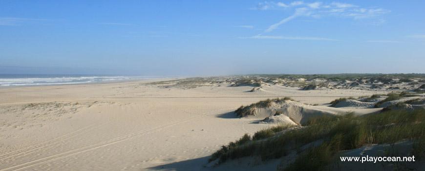 North of Praia de São Jacinto Beach