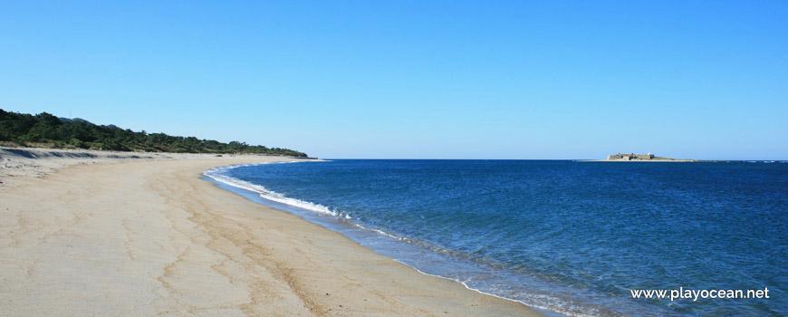 Praia da Foz do Minho, linha de água