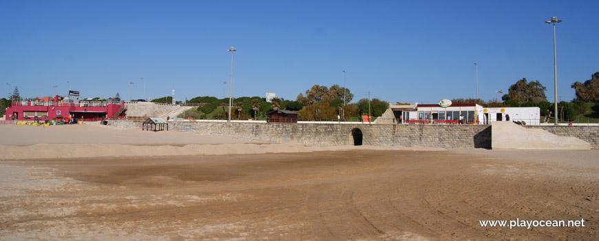 Areal molhado, Praia de Carcavelos