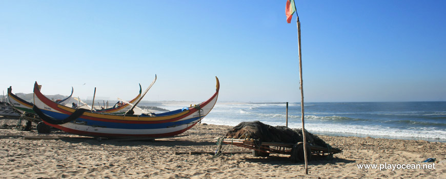 Boats at Praia do Bairro Piscatório Beach