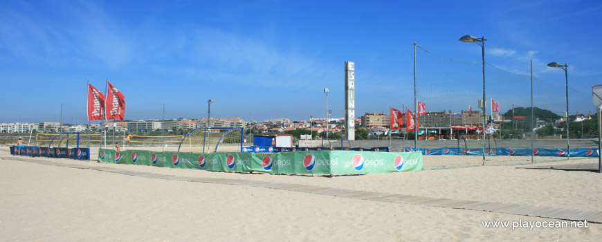 Sports fields at Praia da Frente Azul Beach