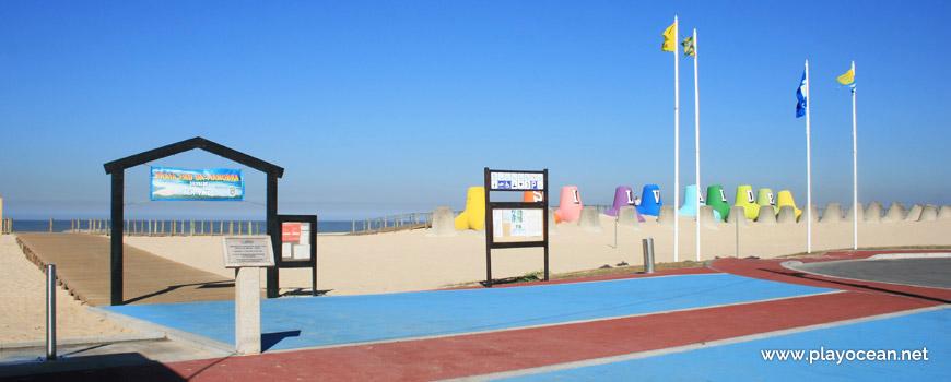 Entrance of Praia de Silvalde Beach