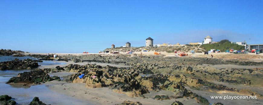 Windmills at Praia de Apúlia (North) Beach