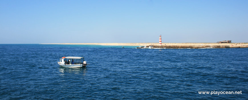 Beacon of the Canal de Faro bar