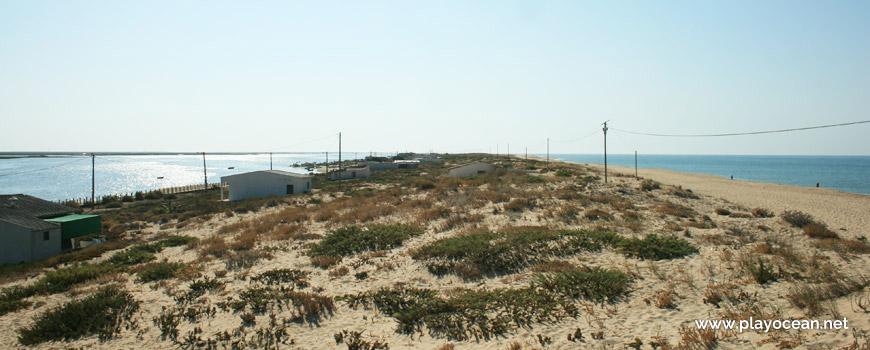 Casas nas dunas da Praia de Faro (Mar)