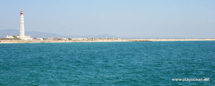 Panoramic of Praia da Ilha do Farol (Sea) Beach
