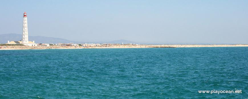Panorâmica da Praia da Ilha do Farol (Mar)