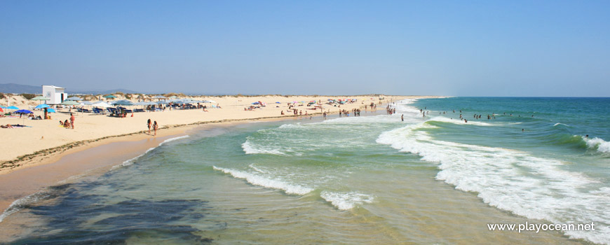 Zona de banhos Este na Praia da Ilha do Farol (Mar)