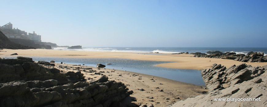 Puddle at Praia da Laje do Costado Beach