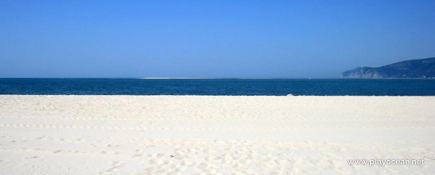 Banco de areia na Praia de Tróia-Bico das Lulas