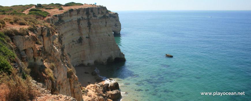 Cliff of Praia da Afurada Beach
