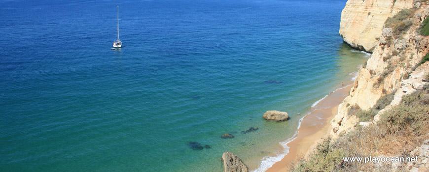 Boats at Praia da Afurada Beach