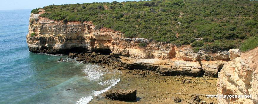 Cliff at Praia do Barranco Beach