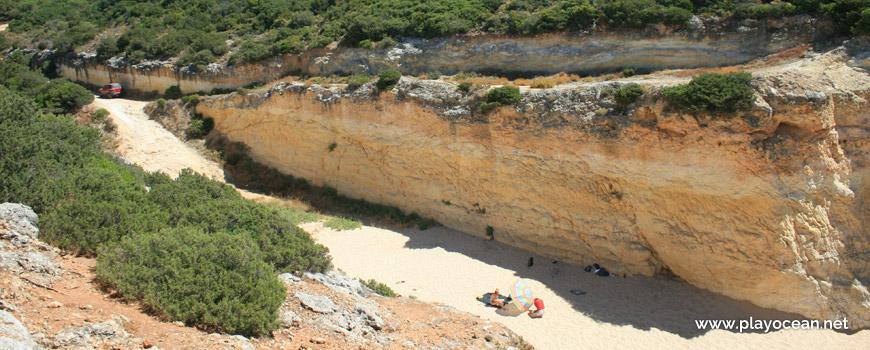 View over Praia do Barranquinho Beach