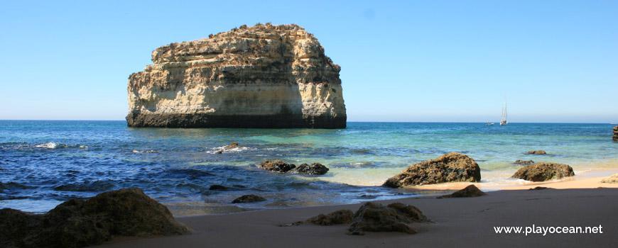 Islet at Praia do Barranquinho Beach