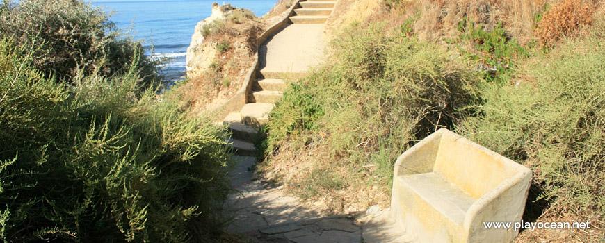 Stairway at Praia dos Beijinhos Beach