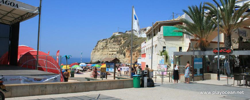 Entrance of Praia de Carvoeiro Beach