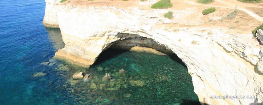Cave at Praia da Corredoura Beach