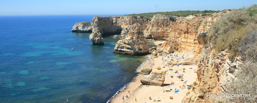 West at Praia da Marinha Beach