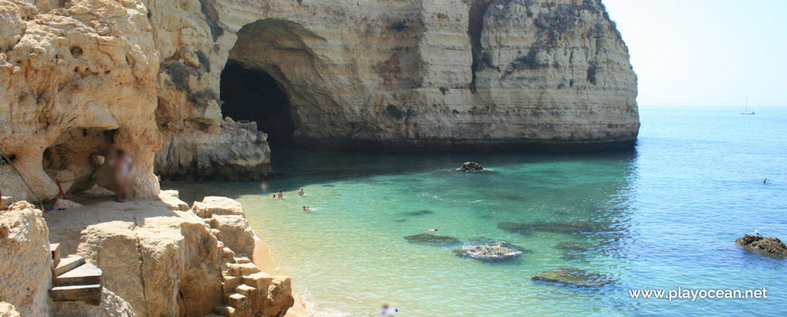 Cave at Praia do Vale Covo Beach