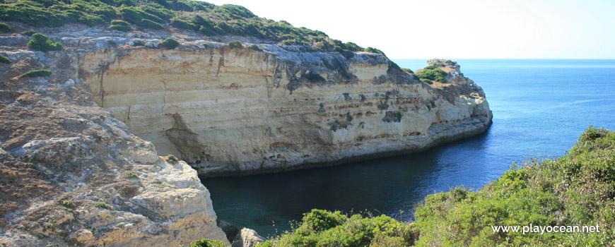 Cliff at Praia do Vale da Lapa Beach