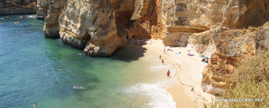 South sand of Praia Dona Ana Beach